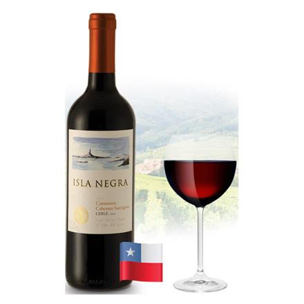 Isla Negra Cabernet Sauvignon & Carmenere Chilean Red Wine 750 ml, ISLANEGRACABERNET の画像