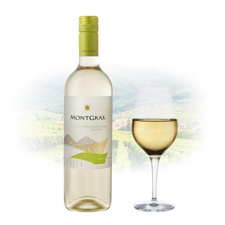MontGras Estate Sauvignon Blanc Chilean White Wine 750 ml, MONTGRASSAUVIGNON の画像