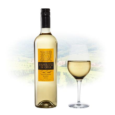 Espíritu de Chile Semi Sweet Sauvignon Blanc Chilean White Wine 750 ml, ESPIRITUSAUVIGNON の画像