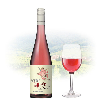 Montes Cherub Rose of Syrah Chilean Pink Wine 750 ml, MONTESCHERUBROSE の画像
