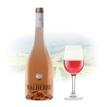 Chateau Malherbe Cotes de Provence Rose French Pink Wine 750 ml, CHATEAUMALHERBEROSE の画像