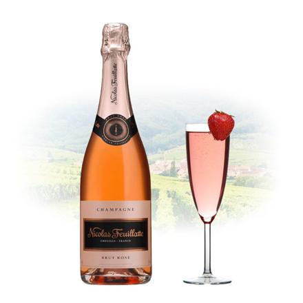 Nicolas Feuillatte Brut Rose Champagne 750 ml, NICOLASBRUTROSE の画像