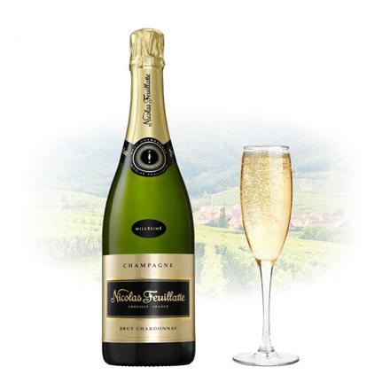 Nicolas Feuillatte Brut Blanc de Blancs Champagne 750 ml, NICOLASDEBLANCS の画像