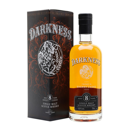 Darkness 8 Year Old Sherry Cask Finish Single Malt Whiskey 700 ml, DARKNESS8SHERRY の画像