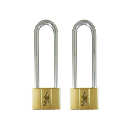 Yale Padlock Solid Brass 60mm 128mm Shackle 2 pc KA, YLHV14060LS120KAX2 の画像
