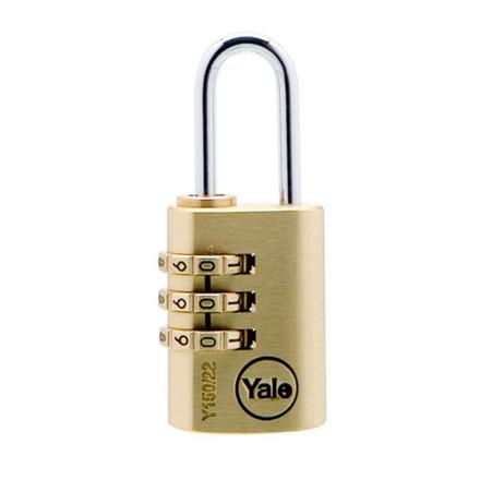 Yale Padlock Solid Brass 20mm Combination, YLHV68820 の画像