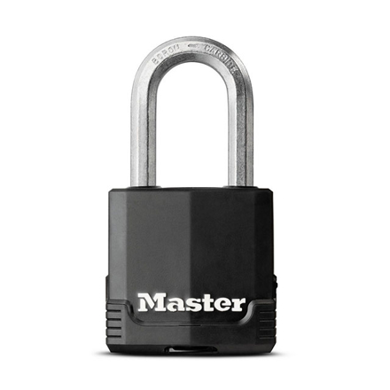 Master Lock Padlock Laminated Steel 49mm 38mm Shackle, MSPM115DLF の画像