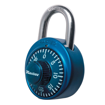 Master Lock Padlock Dial Combination 48mm 19mm Shackle (Blue, Red, Black, Purple), MSP1530DCMBLU の画像