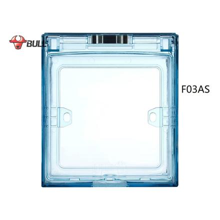 Bull Square Splashproof Cover (Light Blue), F03AS の画像