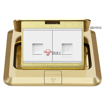 Bull Telephone and Computer Floor Socket (White), GD1T212 の画像