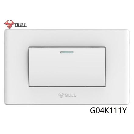 Bull 1 Gang 1 Way Switch Set (White), G04K111Y の画像