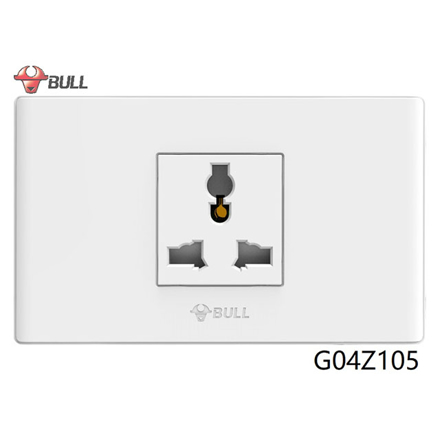 Bull 1 Gang Universal Outlet Set (White), G04Z105 の画像