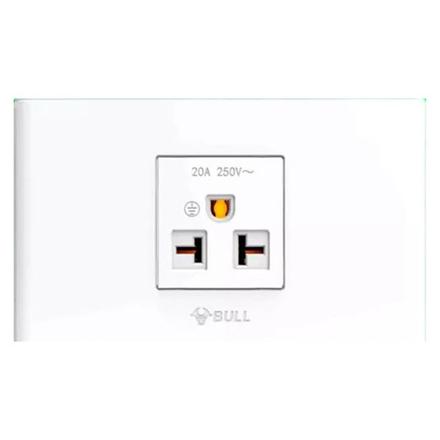 Bull 1 Gang Air Tandem Outlet Set (White), G04Z110 の画像