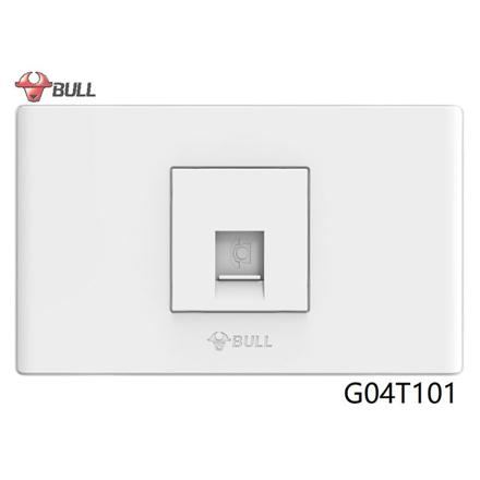 Bull 1 Gang Telephone Outlet Set (White), G04T101 の画像