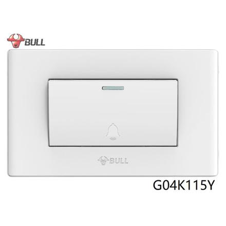 Bull 1 Gang Doorbell Switch Set (White), G04K115Y の画像