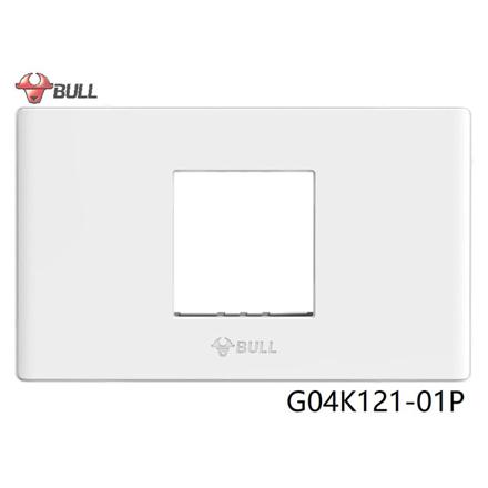 Bull 1 Gang Plate (White), G04K121-01P の画像
