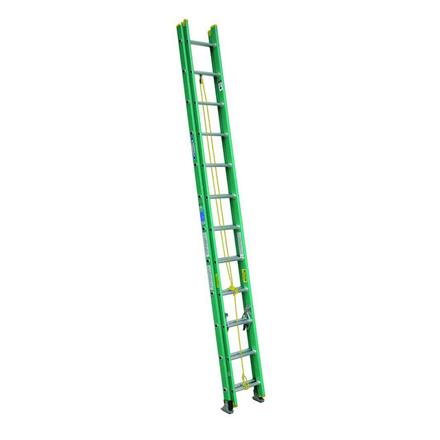 Jinmao Fiberglass Extension Ladder Green 16 Feet (2x8) 22 lbs, JMFM42208II の画像