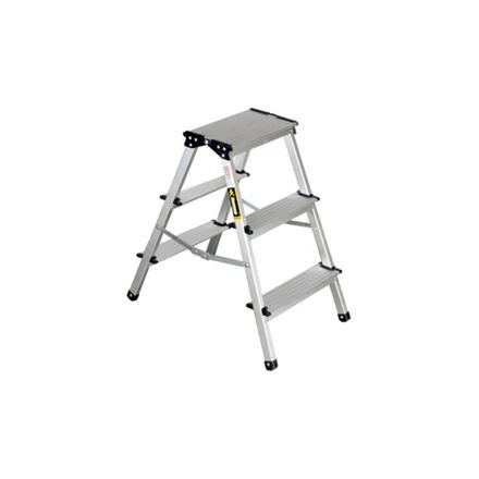 Jinmao Aluminum 3 Steps Folding Step Ladder, JMA082203 の画像