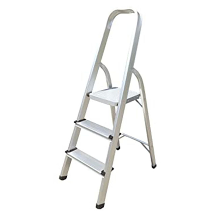 Jinmao Aluminum 3 Step Household Ladder 150 kg, JMA017103 の画像