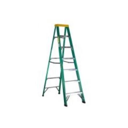 Jinmao 6 Step Fiberglass 7' Step Ladder 225 lbs  Green, JMFM22106II の画像
