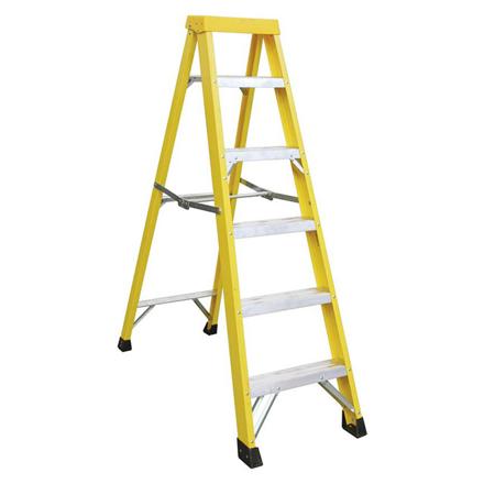 Jinmao 5 Step Fiberglass Step Ladder 250 lbs, JMFM22105I の画像