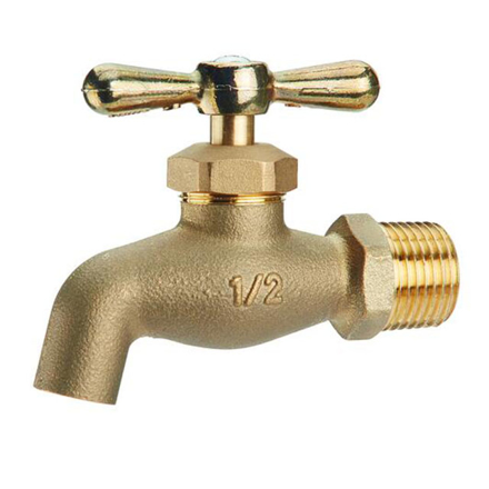 Omega Brass Faucet Screw Type with Plain Bib 1/2 in (Small and Large), BC-1100 の画像