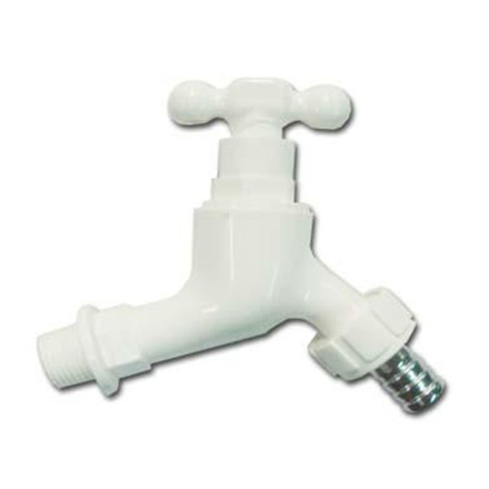 Omega Plastic Tap Faucet Screw Type with Hose Bib 1/2 inch x 4 in, PT-8128 の画像