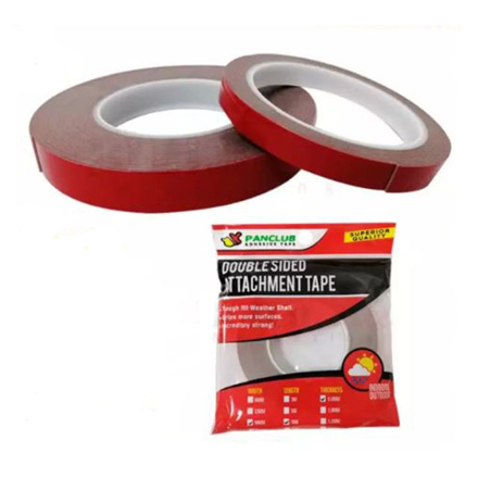 Panclub Double Sided Attachment Tape (6mm x 3Meters x 0.8mm, 12mm x 3Meters x 0.8mm, 18mm x 3Meters x 0.8mm, 6mm x 10Meters x 0.8mm, 12mm x 10Meters x 0.8mm, 18mm x 10Meters x 0.8mm), 80306 の画像
