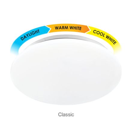 Firefly Functional LED 3-Color Ceiling Lamp Classic 24 watts, ECL124TC の画像