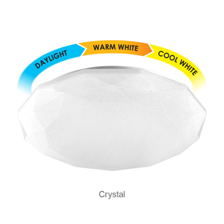 Firefly Functional LED 3-Color Ceiling Lamp Crystal (18 watts, 24 watts), ECL318TC の画像
