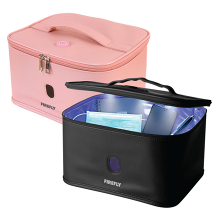 Firefly UV Sterilizer Bag with Auto Shut-Off Safety Feature (Black, Pink), FYL401BK の画像