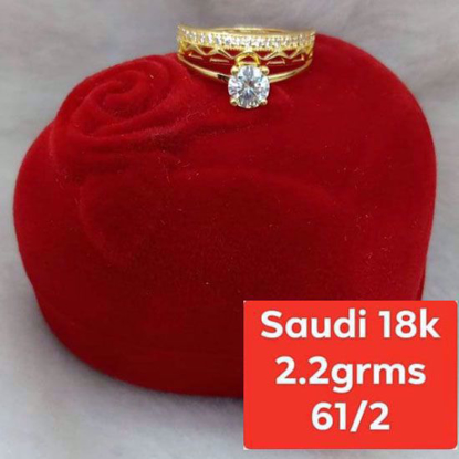 Picture of Saudi Gold Ring 18K - 2.2g_6 1/2
