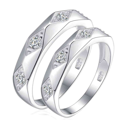 Picture of 925 Silver, Couple Ring- CS-041
