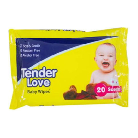 Picture of Tender Love Baby Wipes Scented, TEN06