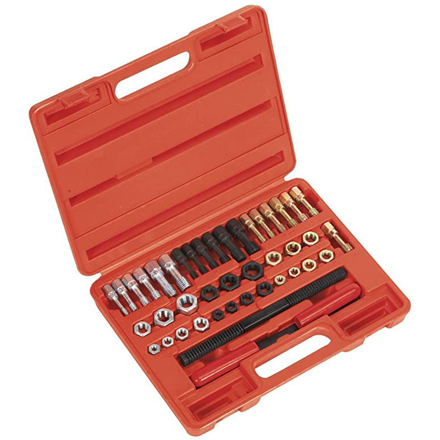 Picture of Licota 42 Piece Rethreader Kit File Tap and Die Set UNF UNC & Metric with Blow Case,  ATH-7024