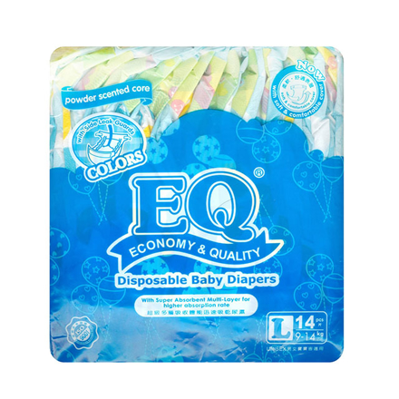 Picture of EQ Diaper Colors Large 14's, EQ013