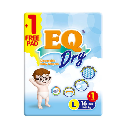 Picture of EQ Diaper Dry Large 16+1's, EQ029AY